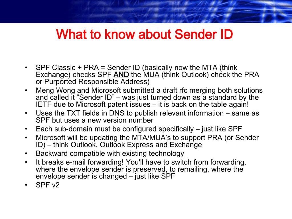 What to know about Sender ID