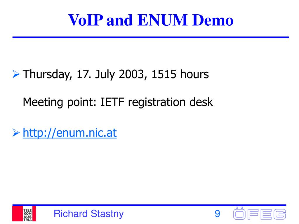 VoIP and ENUM Demo