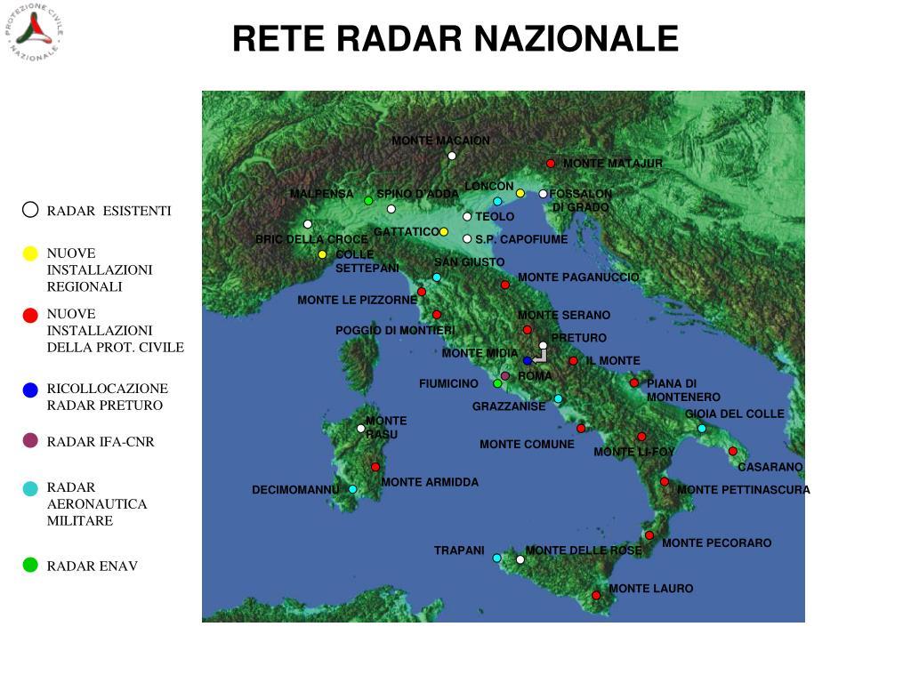 RETE RADAR NAZIONALE