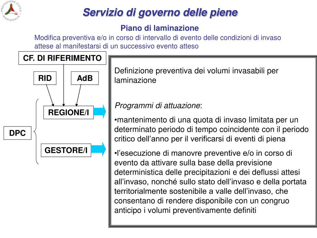 Servizio di governo delle piene