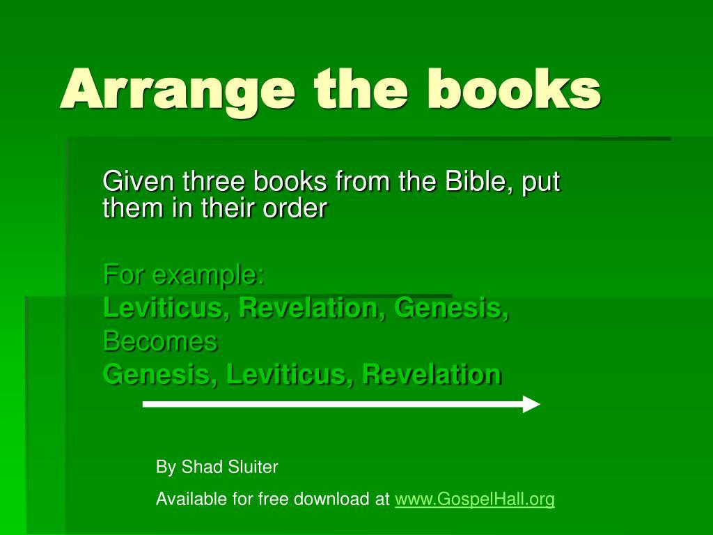 Arrange the books