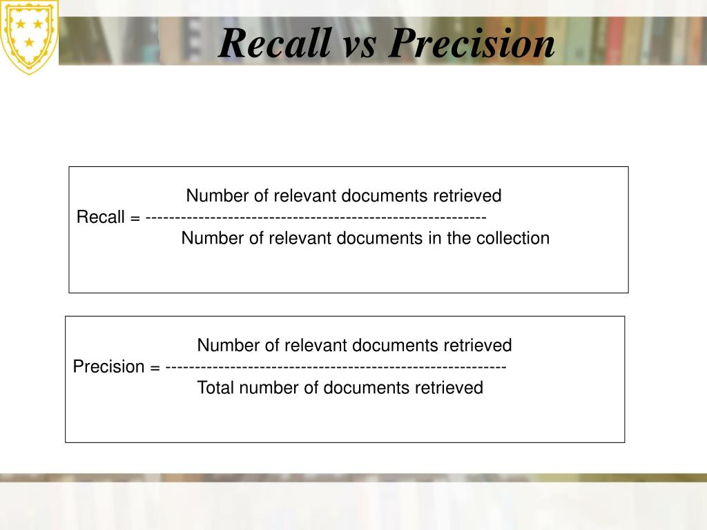Number of relevant documents retrieved