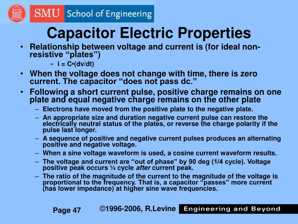 Capacitor Electric Properties