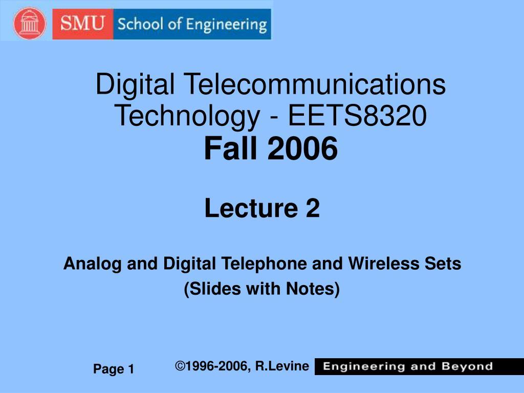 Digital Telecommunications Technology - EETS8320
