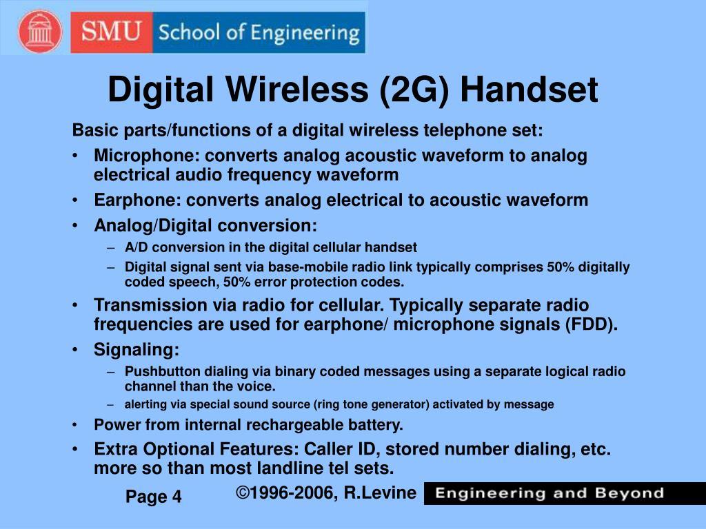 Digital Wireless (2G) Handset
