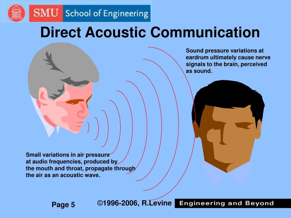 Direct Acoustic Communication