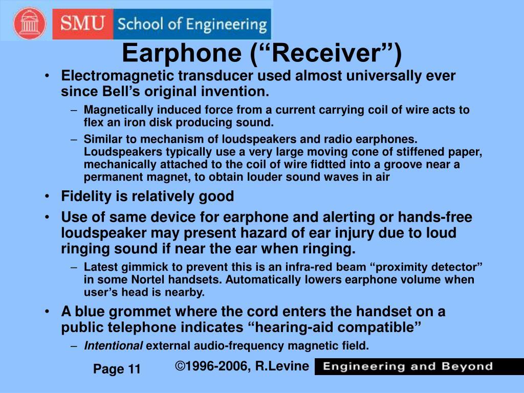 """Earphone (""""Receiver"""")"""
