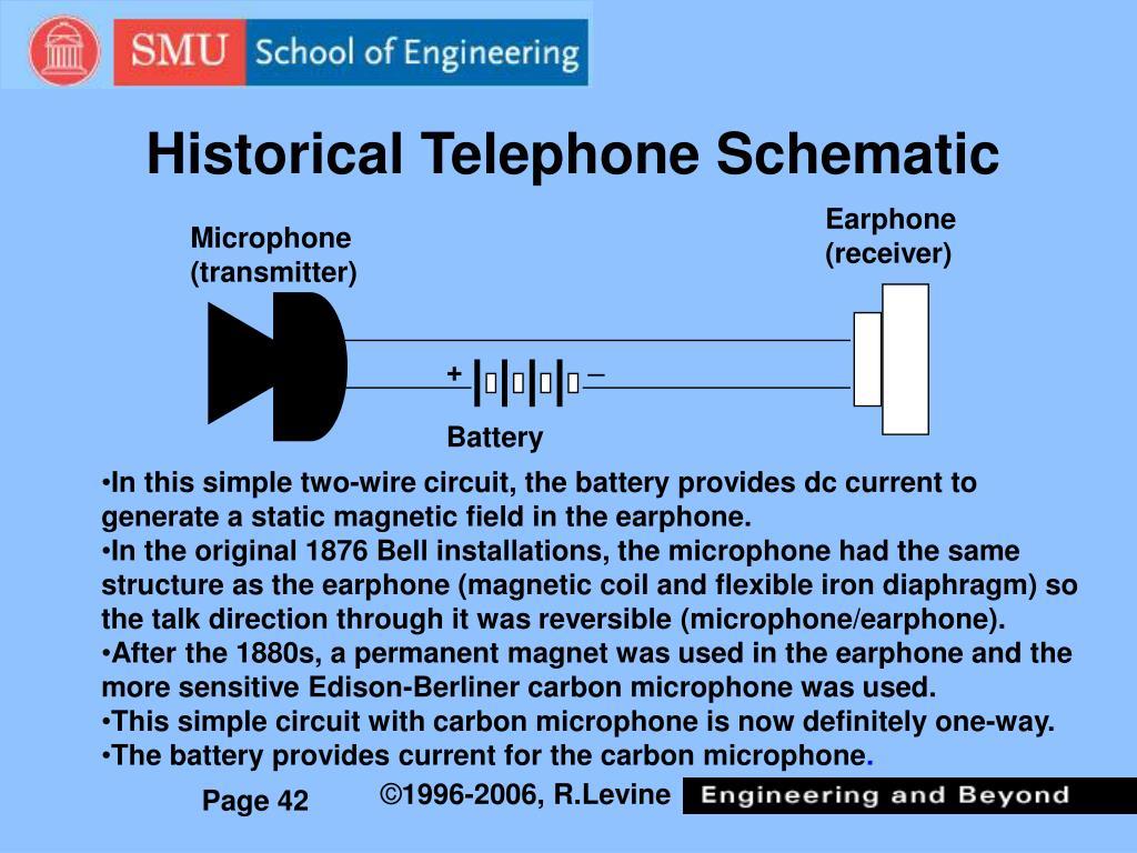 Historical Telephone Schematic