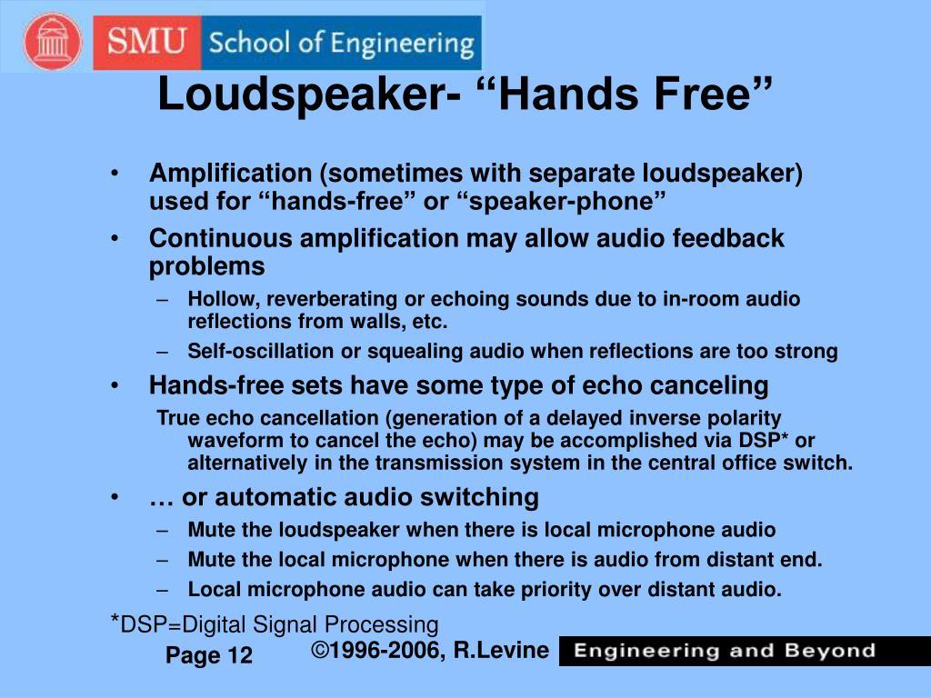 """Loudspeaker- """"Hands Free"""""""
