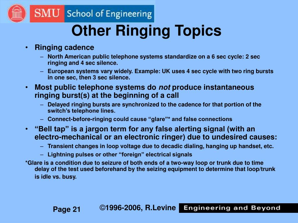 Other Ringing Topics