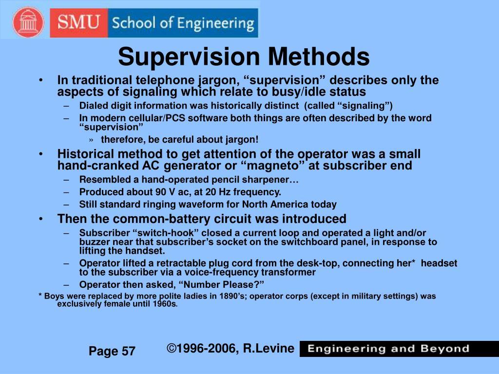 Supervision Methods