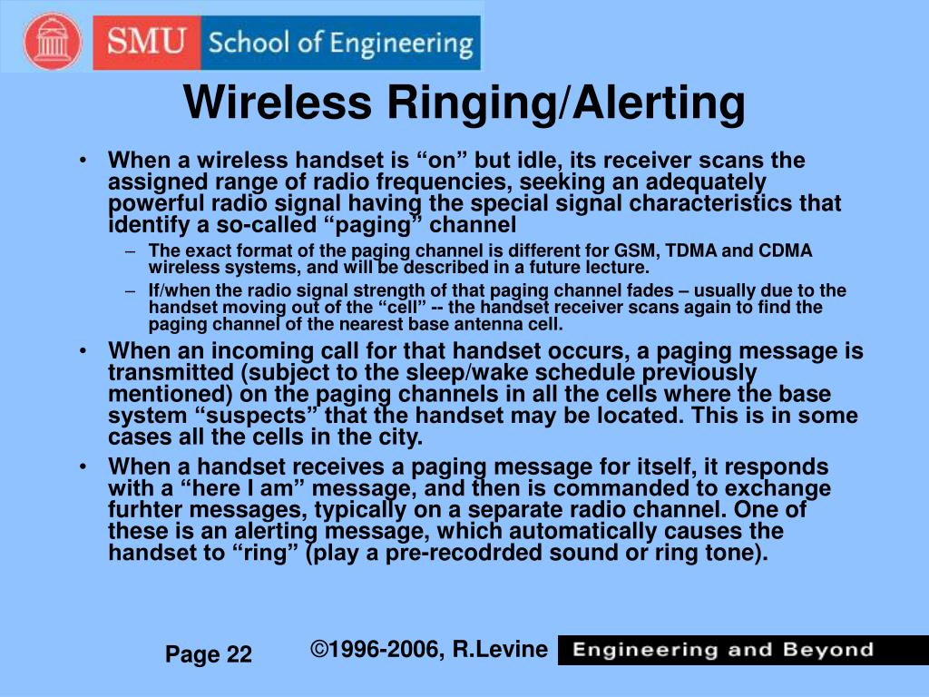 Wireless Ringing/Alerting