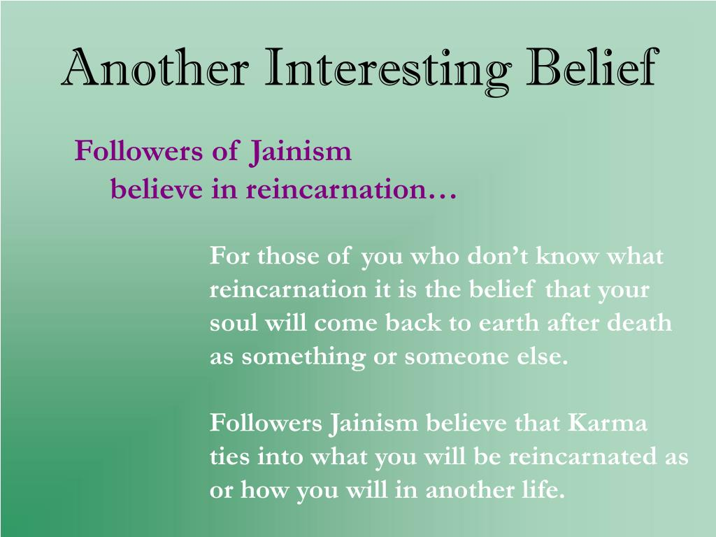 Another Interesting Belief