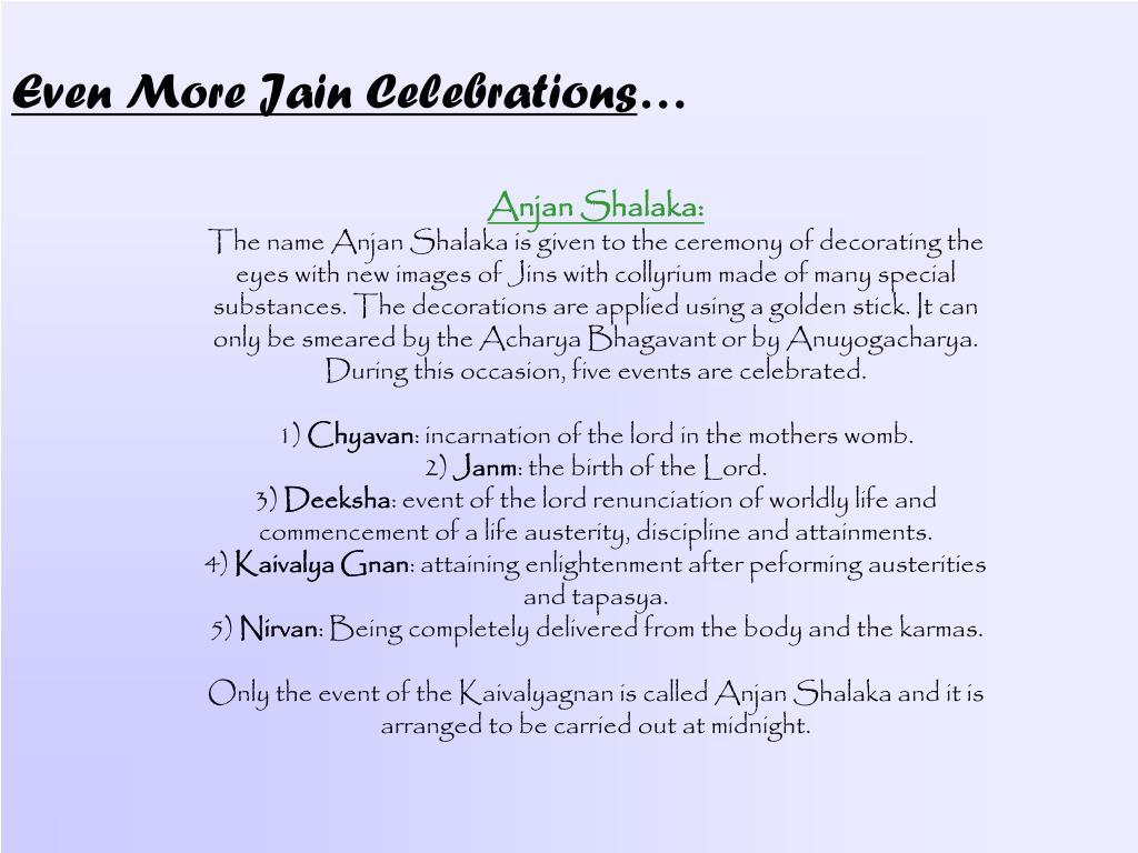 Even More Jain Celebrations