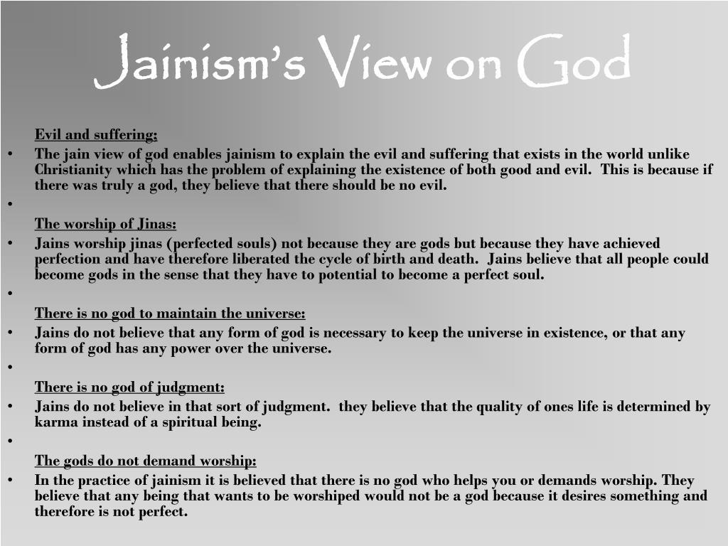 Jainism's View on God