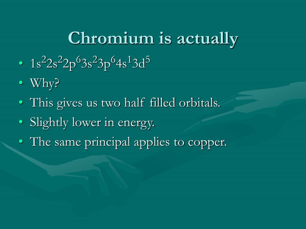 Chromium is actually