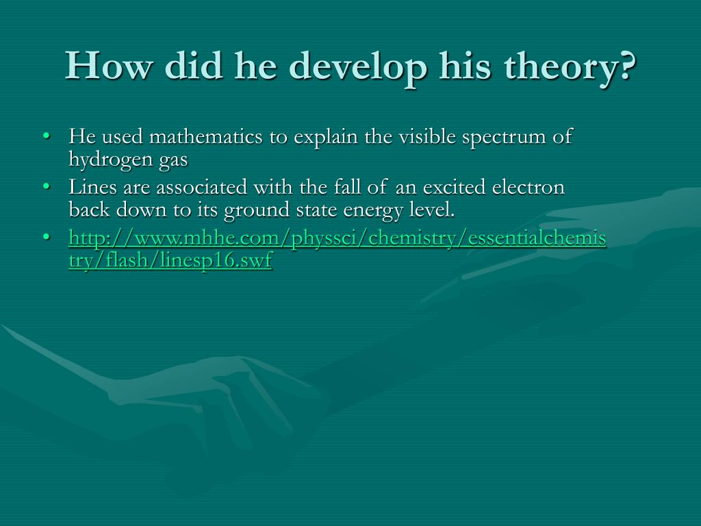 How did he develop his theory?
