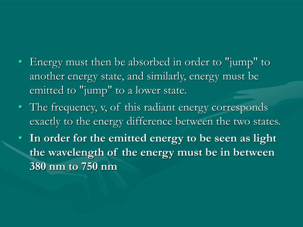 "Energy must then be absorbed in order to ""jump"" to another energy state, and similarly, energy must be emitted to ""jump"" to a lower state."