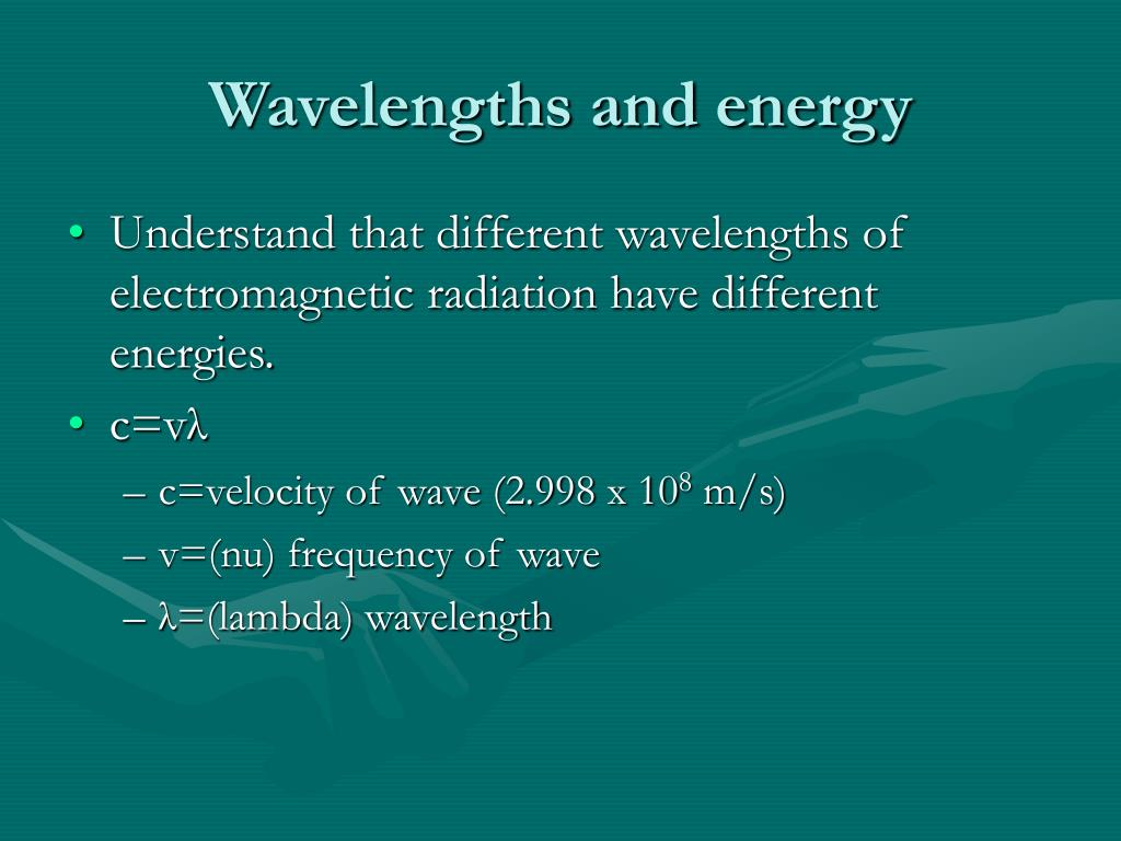 Wavelengths and energy