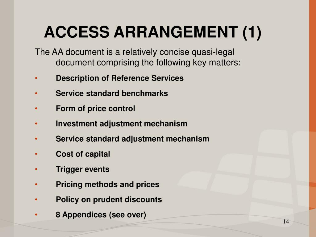 ACCESS ARRANGEMENT (1)
