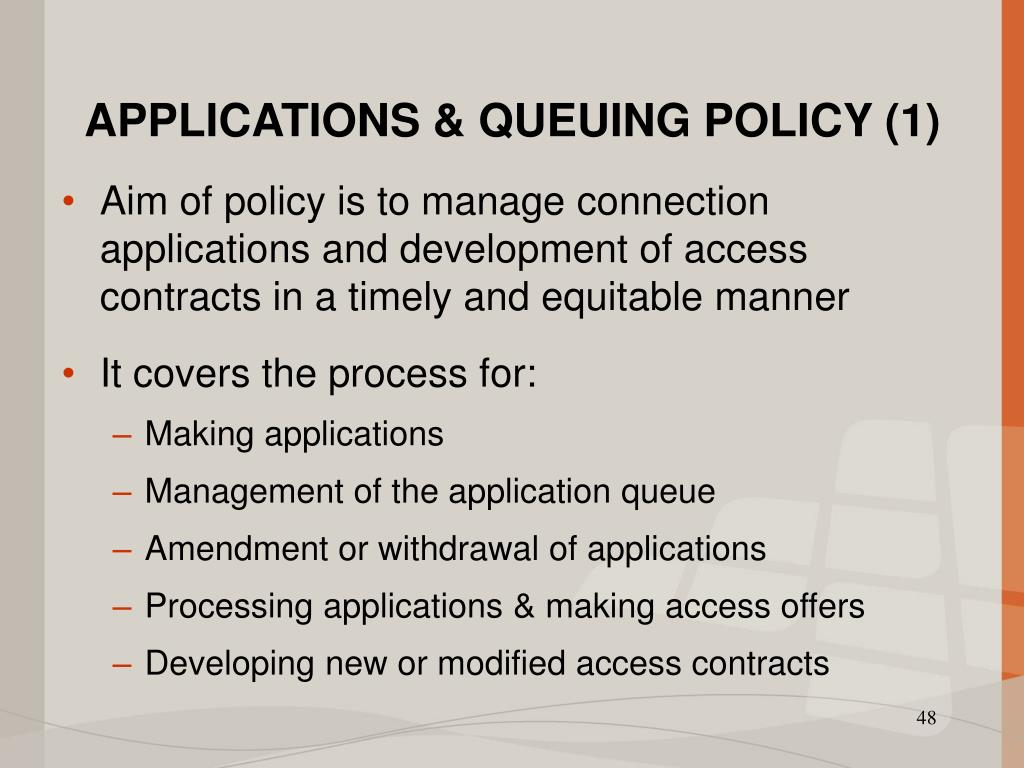 APPLICATIONS & QUEUING POLICY (1)