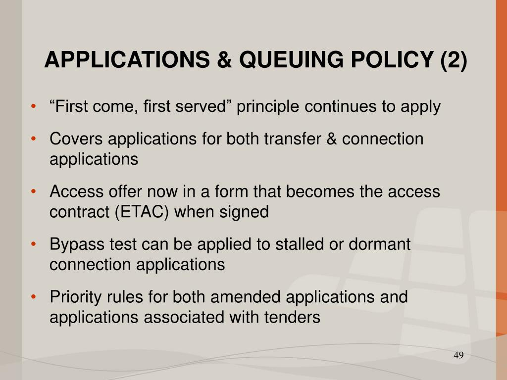 APPLICATIONS & QUEUING POLICY (2)