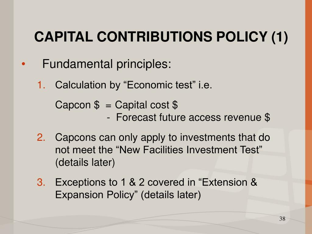 CAPITAL CONTRIBUTIONS POLICY (1)