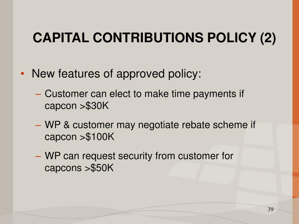 CAPITAL CONTRIBUTIONS POLICY (2)