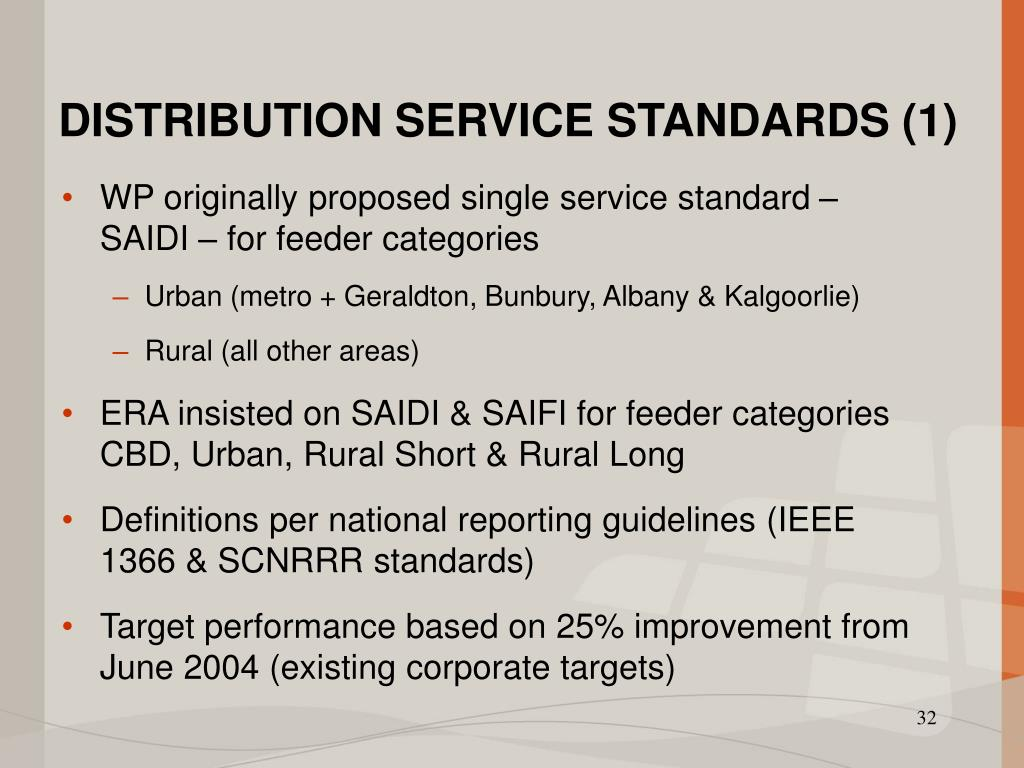 DISTRIBUTION SERVICE STANDARDS (1)