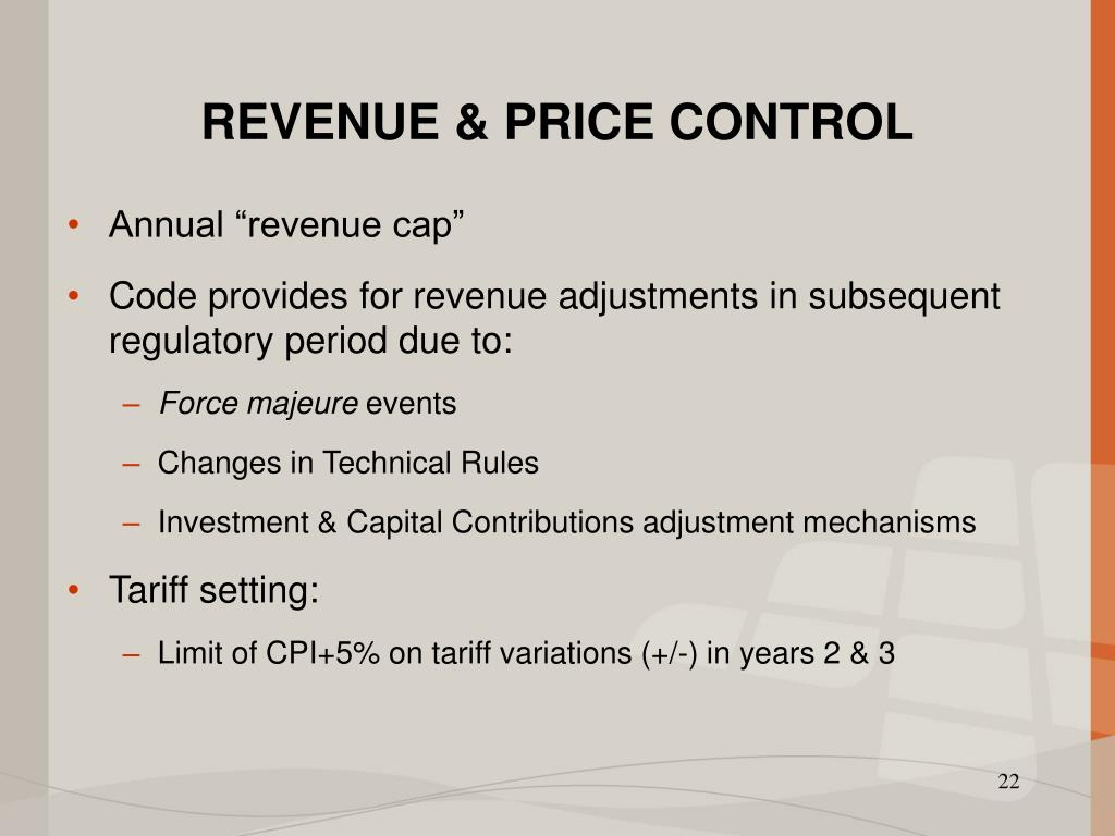 REVENUE & PRICE CONTROL