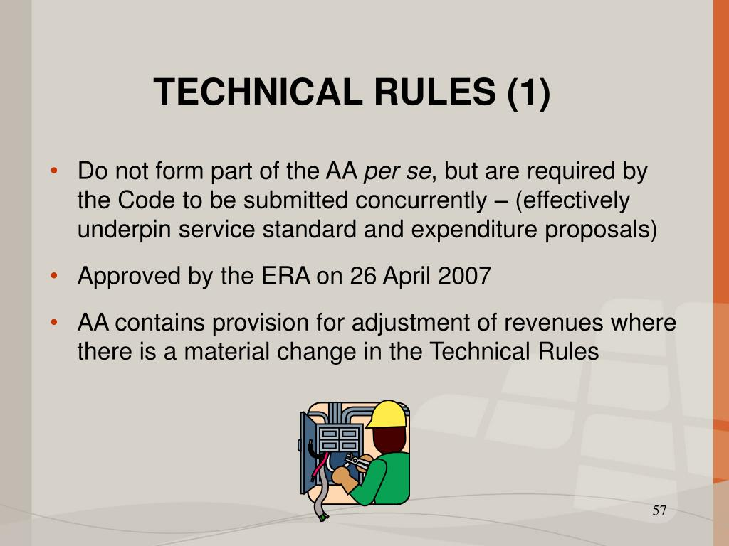 TECHNICAL RULES (1)