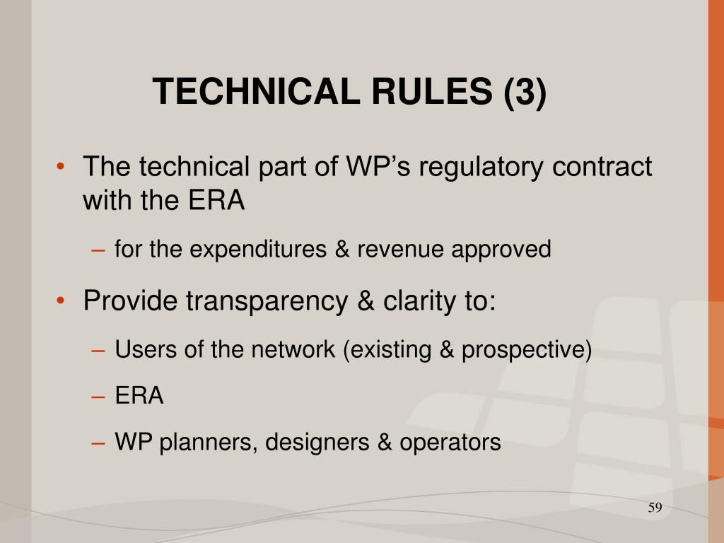 TECHNICAL RULES (3)