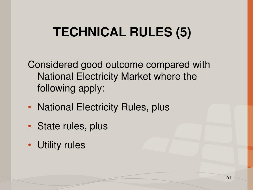 TECHNICAL RULES (5)