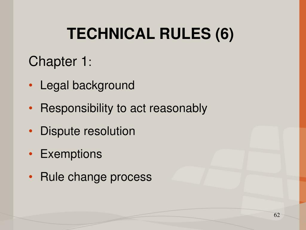 TECHNICAL RULES (6)