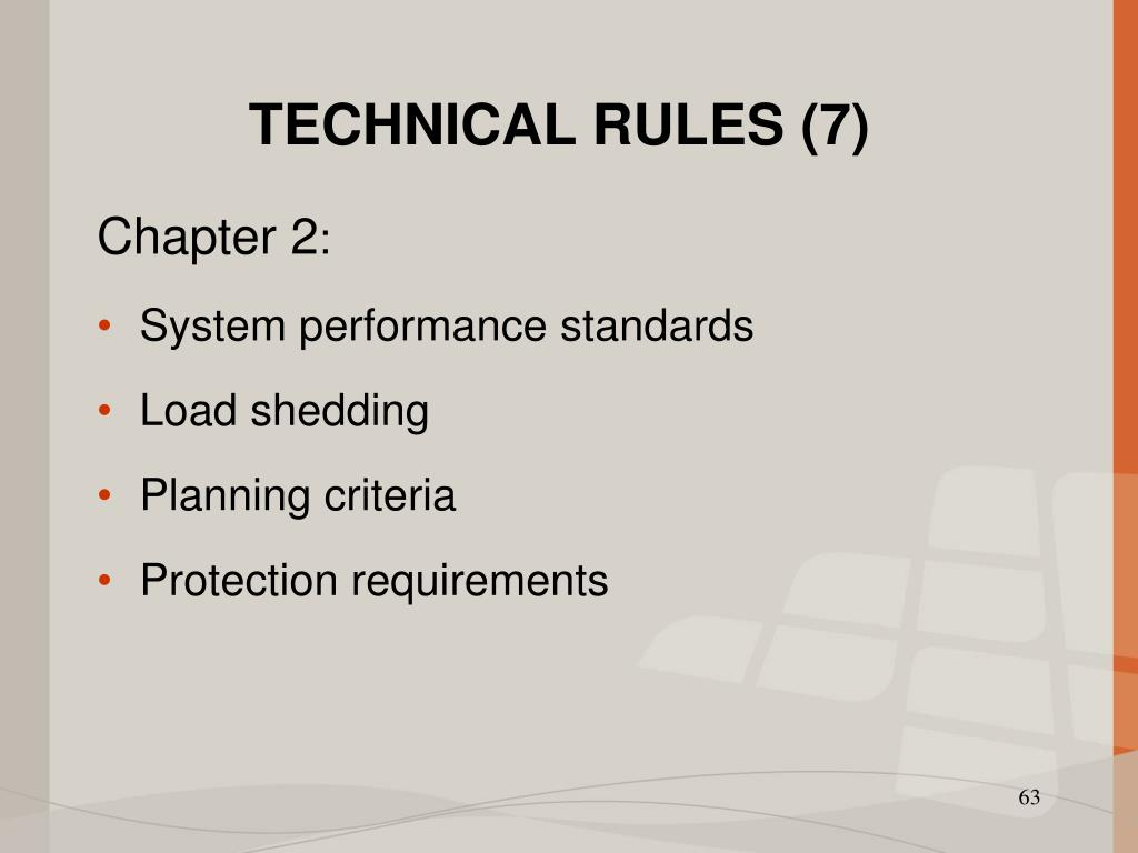 TECHNICAL RULES (7)