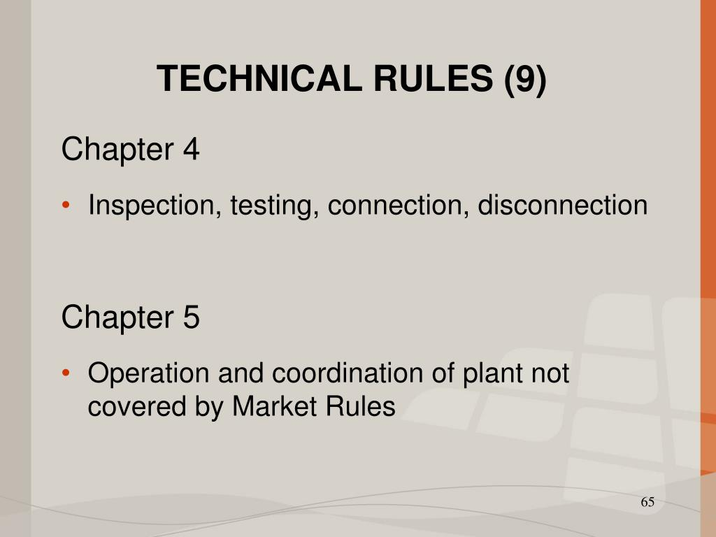 TECHNICAL RULES (9)