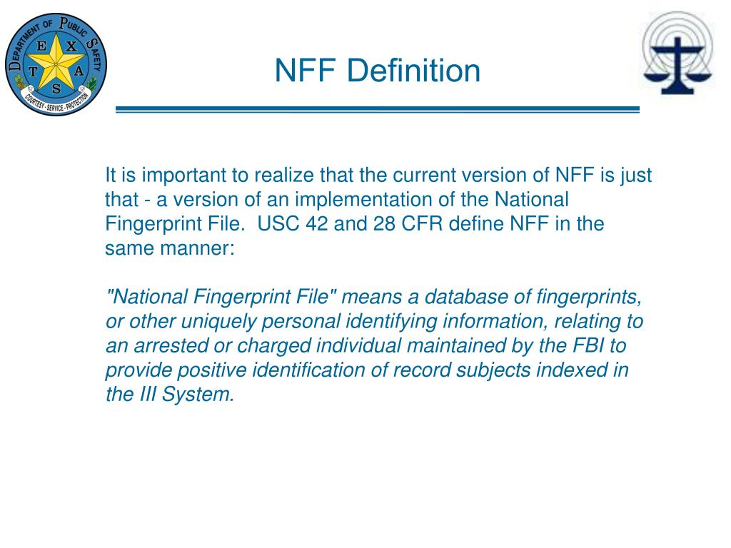 NFF Definition