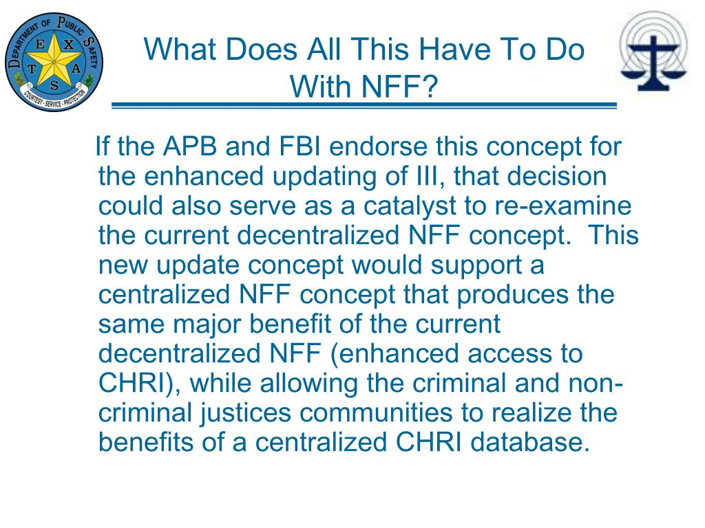 What Does All This Have To Do With NFF?