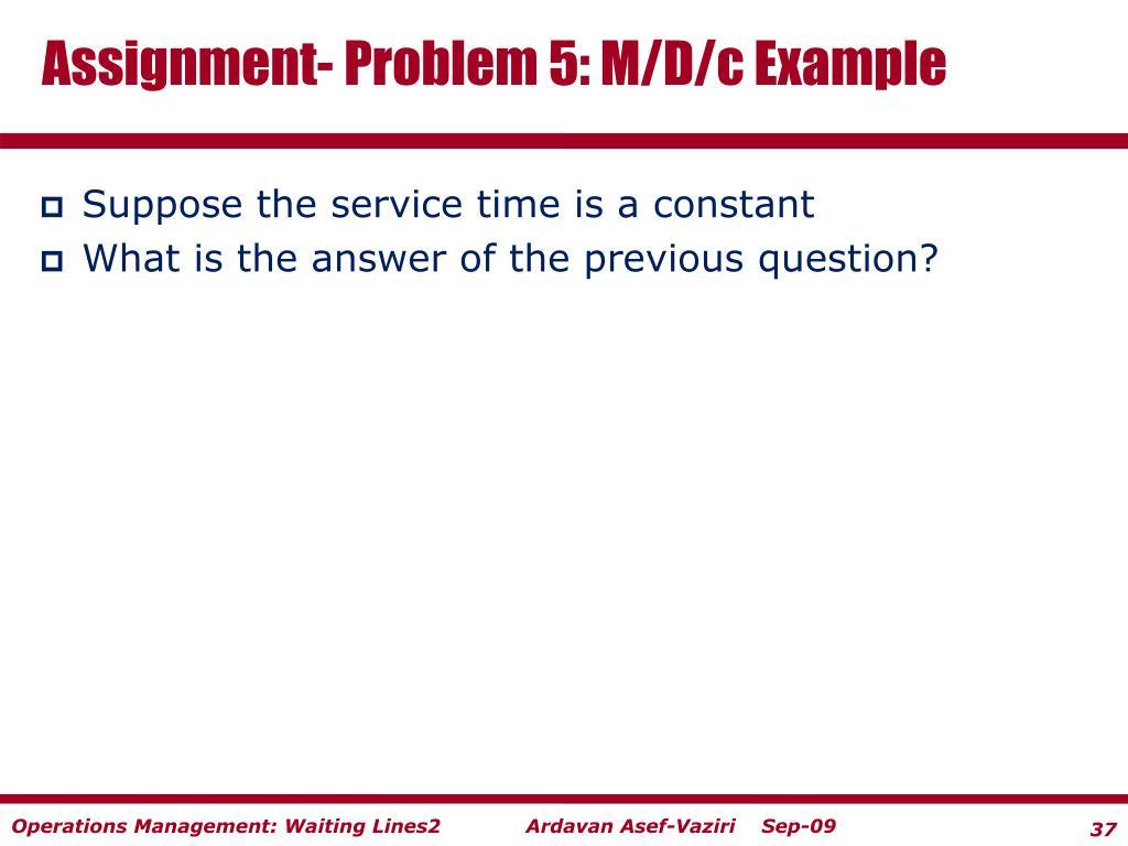 Assignment- Problem