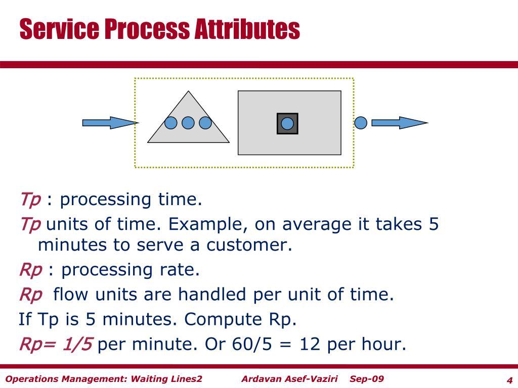 Service Process Attributes