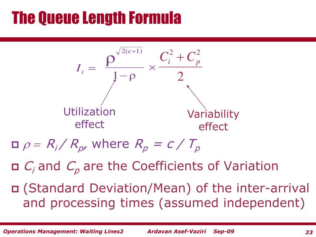 The Queue Length Formula
