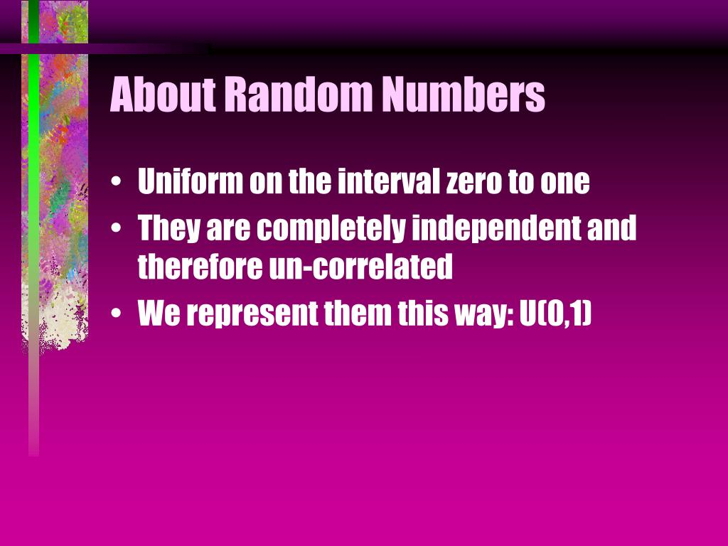 About Random Numbers