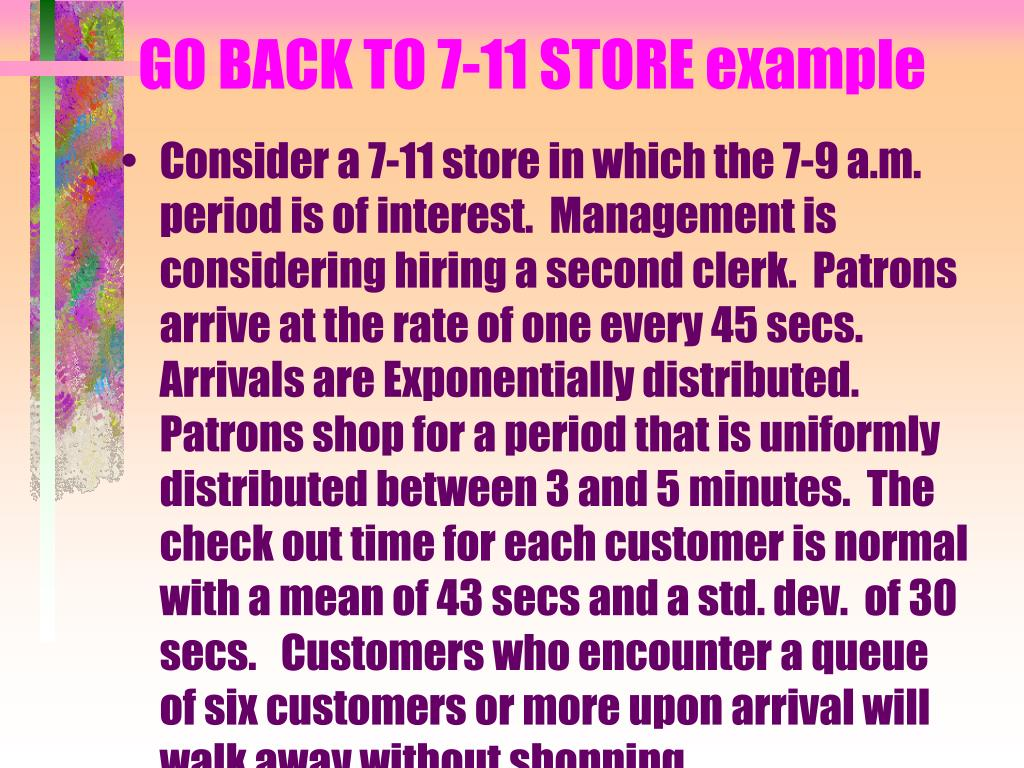 GO BACK TO 7-11 STORE example