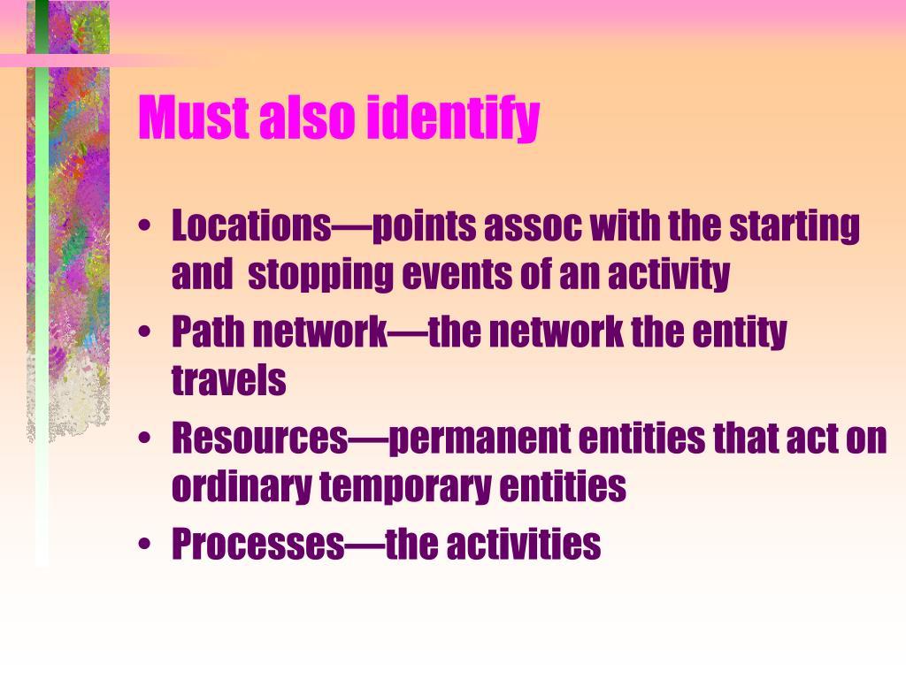 Must also identify