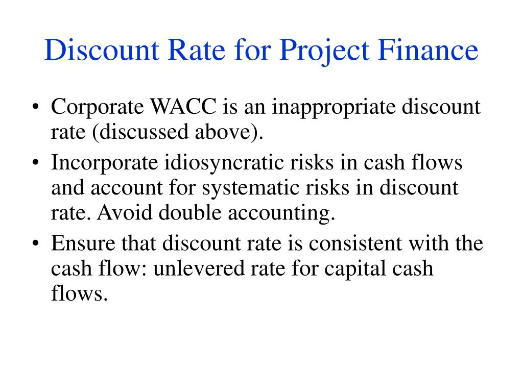 Discount Rate for Project Finance