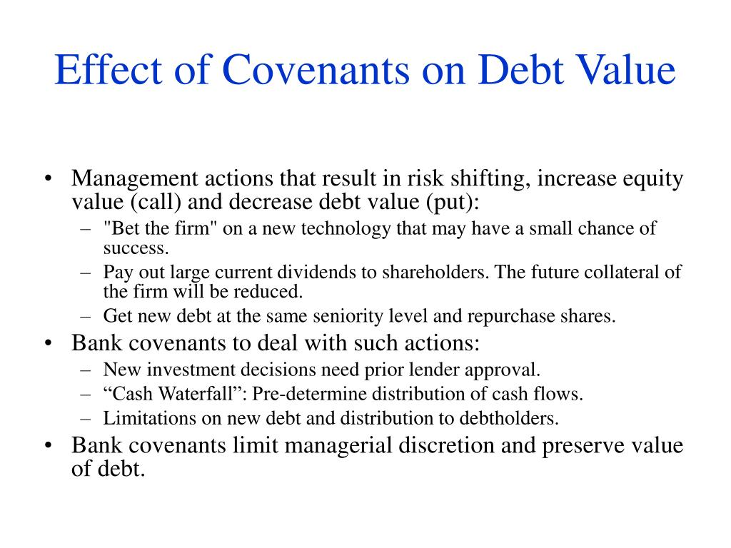 Effect of Covenants on Debt Value