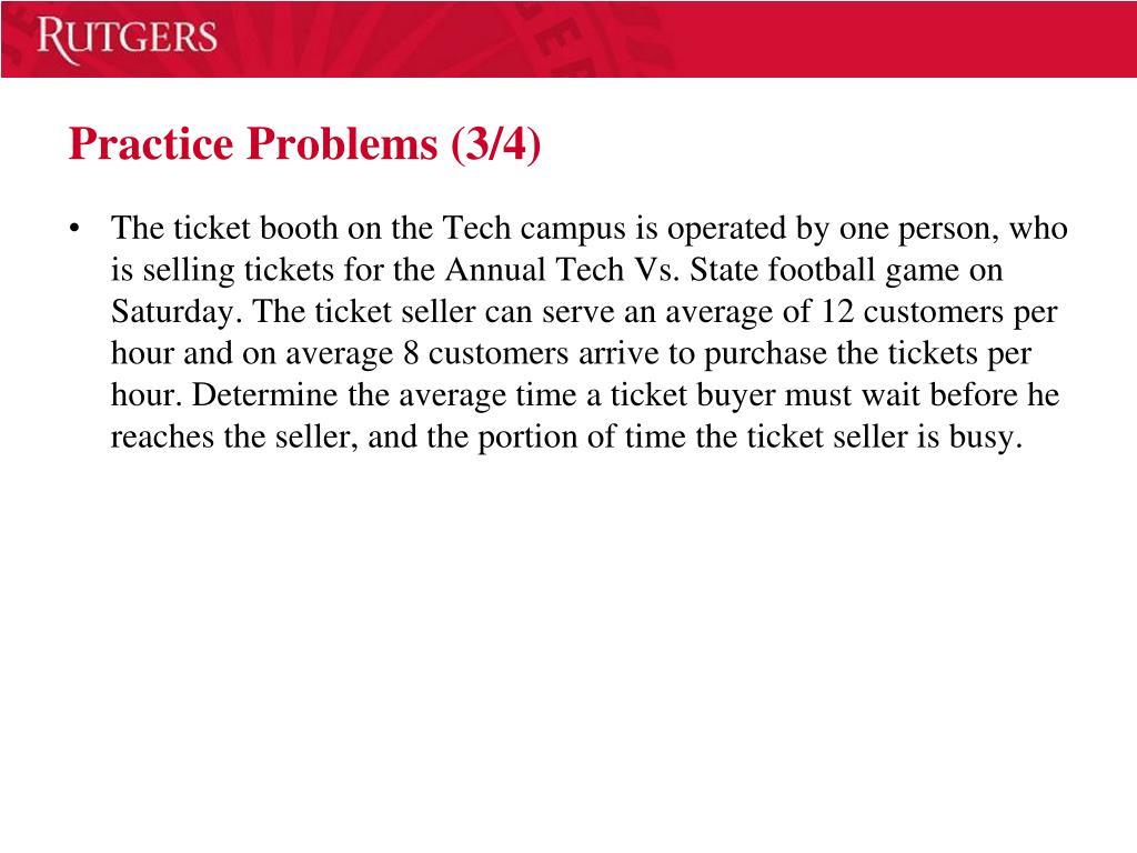 Practice Problems (3/4)