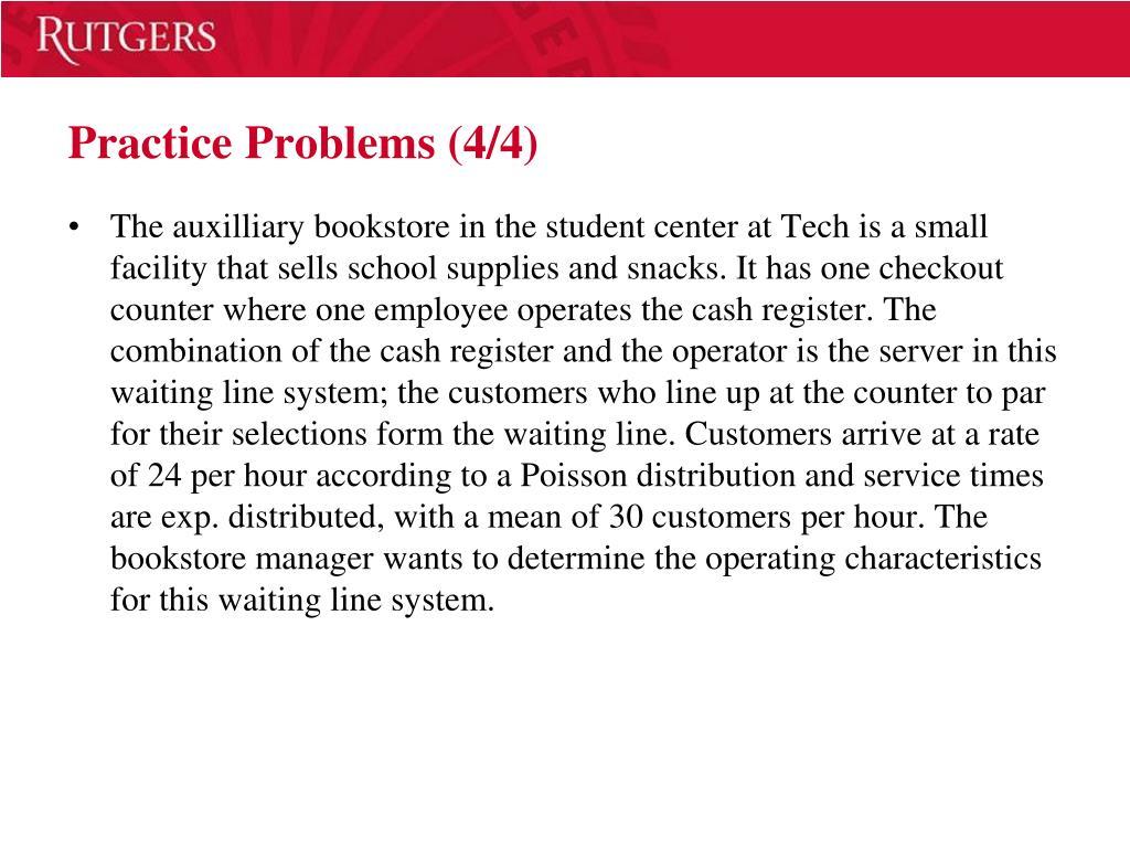 Practice Problems (4/4)