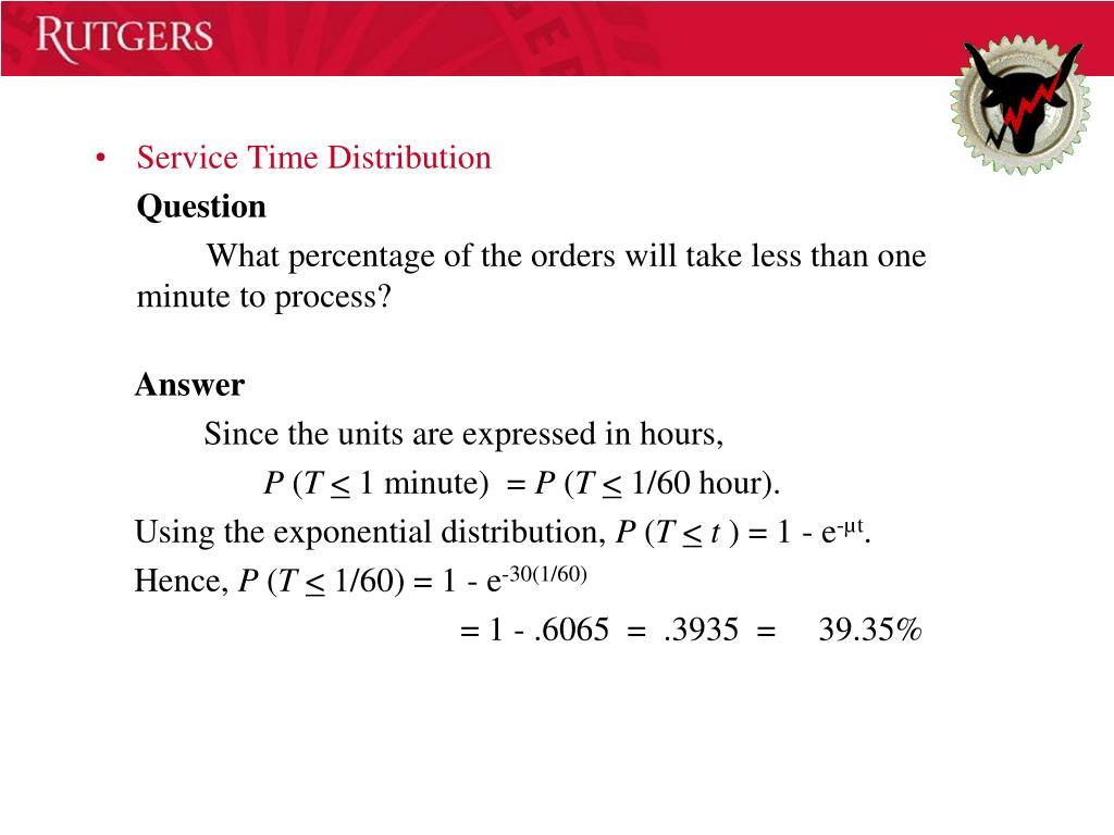 Service Time Distribution