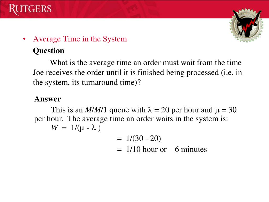 Average Time in the System